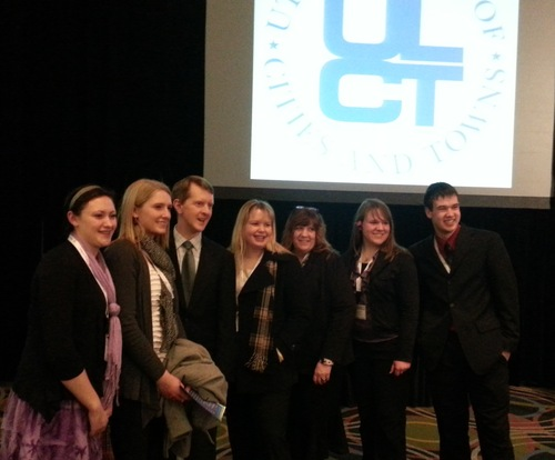 """Cimaron Neugebauer   The Salt Lake Tribune """"Jeopardy!"""" champion and author Ken Jennings, third from left, visited Utah to host a mock game show held at the Salt Palace, with proceeds from the event benefiting charities."""