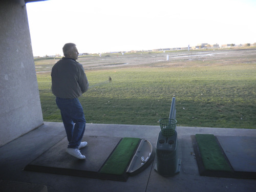 Tom Wharton     The Salt Lake Tribune Wendell Graves of Murray tries to keep in practice in the winter so he can beat his golf buddies in the spring.
