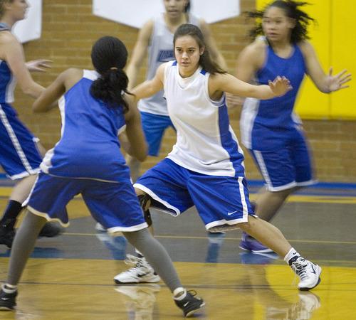 Paul Fraughton  |  Salt Lake Tribune Cyprus High School's  Julie Caputo plays defense at a recent practice.