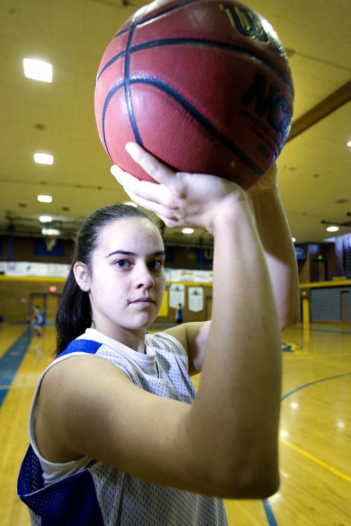 Paul Fraughton  |  Salt Lake Tribune Cyprus High School's Julie Caputo at a recent practice.