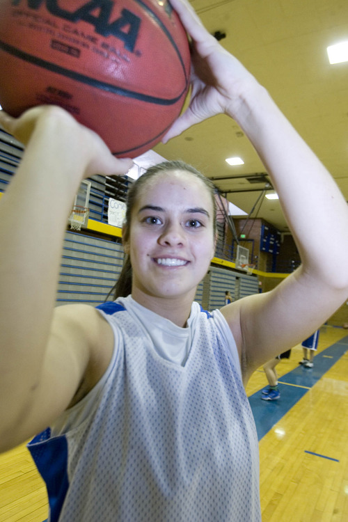 Paul Fraughton  |   Salt Lake Tribune Cyprus High School's  Julie Caputo  at a recent practice.  Monday, January 28, 2013