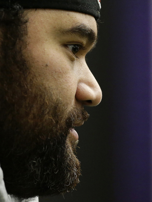 Baltimore Ravens defensive end Haloti Ngata, Highland High grad, weighs 350 pounds but is one of the best athletes on the team, according to teammate and fellow Utahn Paul Kruger. (AP Photo/Patrick Semansky)