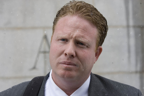 Paul Fraughton     The Salt Lake Tribune Jeremy Johnson -- shown here leaving the federal courthouse in Salt Lake City on Friday, Jan. 11, 2013, after a plea agreement unraveled -- is fighting government attempts to muzzle him.