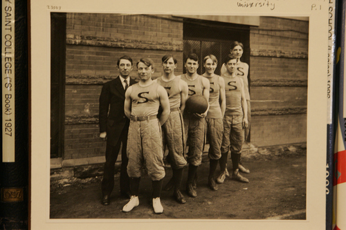 (Courtesy of Utah Historical Society) Basketball in Utah at the turn of the 20th century.