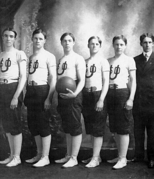 (Courtesy of Utah Historical Society)  Utah State School for the Deaf basketball team, c. 1904-1907.