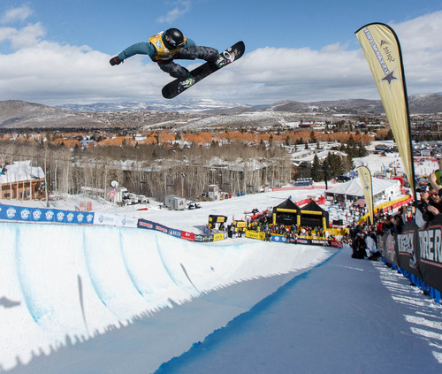 Trent Nelson  |  The Salt Lake Tribune Ben Kilner competes at the FIS Snowboard World Cup Friday, February 1, 2013 in Park City.