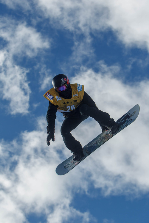 Trent Nelson  |  The Salt Lake Tribune Shaun White competes at the FIS Snowboard World Cup Friday, February 1, 2013 in Park City.