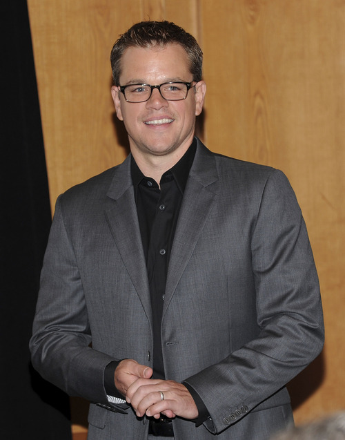"Actor Matt Damon participates in a press conference before ""Cooking Live With Chef Ming Tsai and Friends"" to benefit the Family Reach Foundation and it's mission to help families fighting pediatric cancer on Tuesday, Sept. 18, 2012 in New York. (Photo by Evan Agostini/Invision/AP Images)"