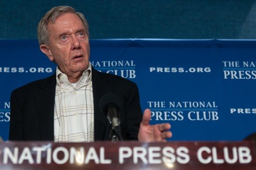 Former Interior Secretary Bruce Babbitt announces his Plan To Strengthen America's Energy Future and Conservation Legacy at a National Press Club Newsmaker, Tuesday, Feb. 5, 2013. Courtesy | Noel St. John / National Press Club