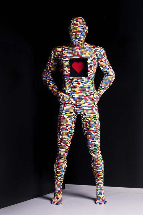 """""""X-Ray,"""" a work by New York artist Nathan Sawaya, whose exhibit """"The Art of the Brick"""" -- featuring Sawaya's artworks made from Legos -- will open Feb. 9 at the Kimball Art Center in Park City. Courtesy Kimball Art Center"""