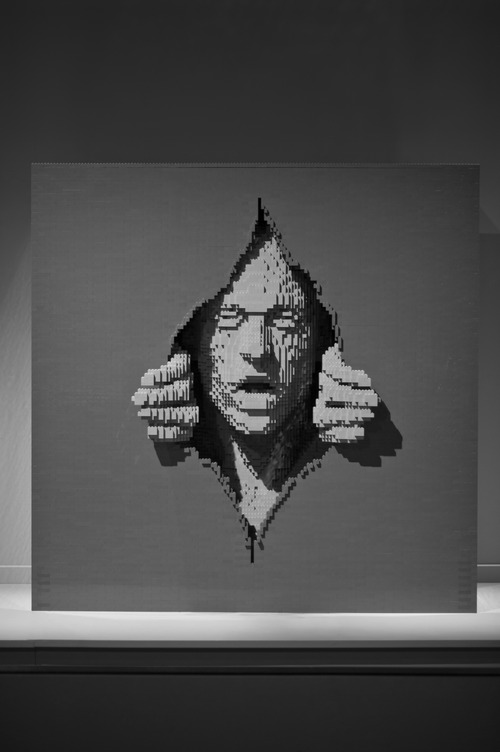 """""""Gray,""""  by New York artist Nathan Sawaya, whose exhibit """"The Art of the Brick"""" -- featuring Sawaya's artworks made from Legos -- will open Feb. 9 at the Kimball Art Center in Park City. Courtesy Kimball Art Center"""