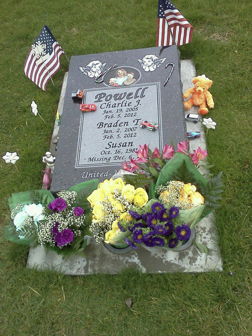 Charlie and Braden Powell's grave. Courtesy image