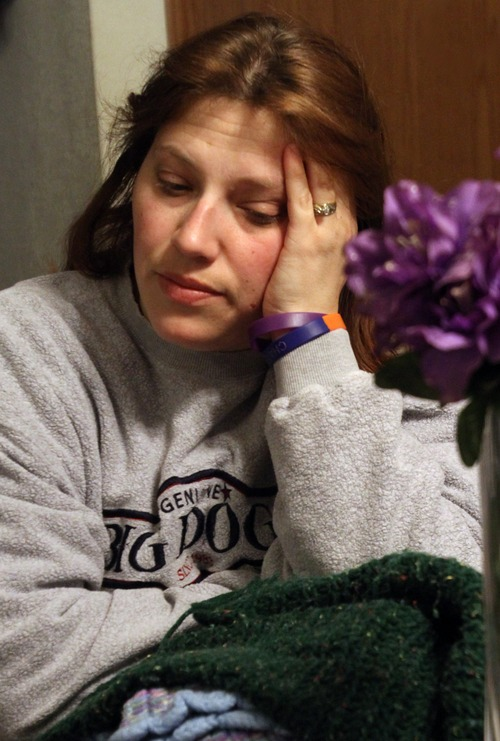 Rick Egan    The Salt Lake Tribune   Denise Cox keeps a bouquet of purple flowers on her kitchen table from the funeral of Charlie and Braden to remind her of her missing sister. Susan Powell, at her home in Bonney Lake, Wash., Thursday, May 10, 2012.