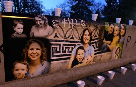 Rick Egan  | The Salt Lake Tribune   A poster of Susan Powell and her kids, at the vigil at McKinley Park in Tacoma, Monday, February 6, 2012.  Between 300 and 400 people were at the vigil.