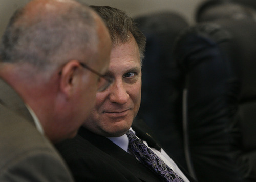 Scott Sommerdorf   |  The Salt Lake Tribune Sen. Curt Bramble, R-Provo, chaired a Senate committee addressing SB55 - Insurance Coverage for Autism Spectrum Disorder - Thursday, February 7, 2013. The bill passed out of committee on a vote of 5-2.