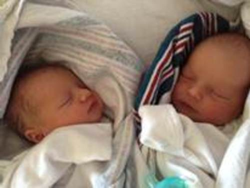 Twins Chloe and Sean Hunter of Herriman are beneficiaries of the Family Medical Leave Act.  Their mother Rebecca Hunter took leave from her job under FMLA following their birth. (Photo courtesy of Rebecca Hunter)