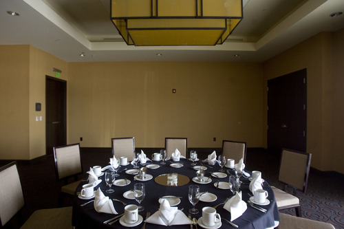 Kim Raff     The Salt Lake Tribune The Watson Ballroom in the newly constructed Embassy Suites in West Valley City.
