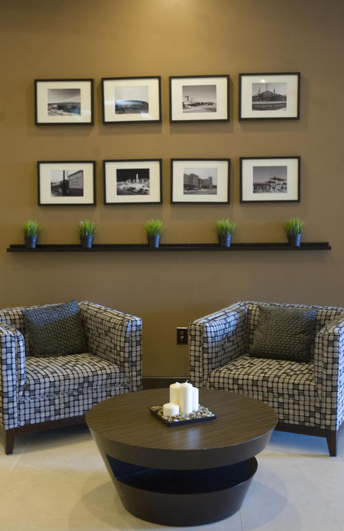 Kim Raff     The Salt Lake Tribune A sitting area in the lobby of the newly constructed Embassy Suites in West Valley City. The hotel is a cornerstone of the Fairbourne Station development in West Valley City.