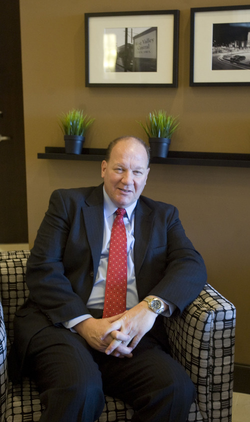 Kim Raff     The Salt Lake Tribune Jim Burkett is the general manager of the newly constructed Embassy Suites in West Valley City.