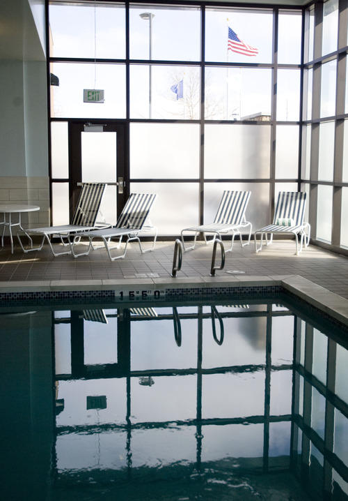 Kim Raff     The Salt Lake Tribune The indoor pool at Embassy Suites in West Valley City on Monday, Feb. 11, 2013.