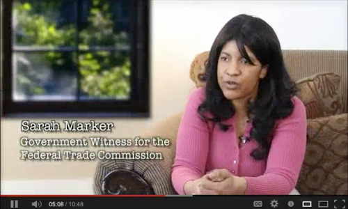 Sarah Marker is seen in this screengrab of one of Jeremy Johnson's youtube videos. The video has been taken down.