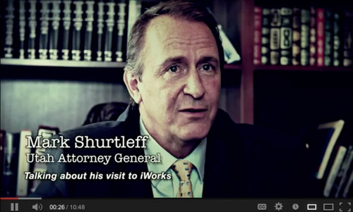 Mark Shurtleff is seen in this screengrab of one of Jeremy Johnson's youtube videos. The video has been taken down.