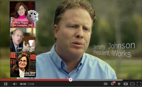 Jeremy Johnson is seen in this screengrab of one of his youtube videos. The video has been taken down.