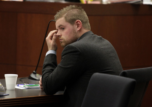 Skyler Shepherd listens to opening arguments during his trial at the 2nd District Courthouse in Ogden on Monday, December 10, 2012.  (KERA WILLIAMS/ Standard-Examiner)