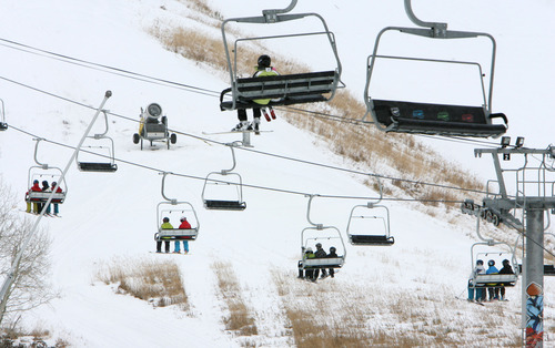 Steve Griffin     Tribune file photo Skiers ride the chair lifts at Park City Mountain Resort.