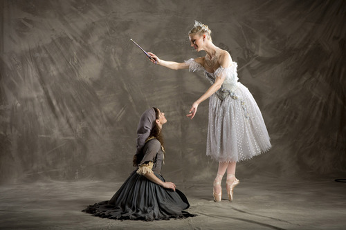 """Ballet West first soloists Arolyn Williams and Haley Henderson Smith in Sir Frederick Ashton's """"Cinderella."""" (Courtesy  Erik Ostling)"""