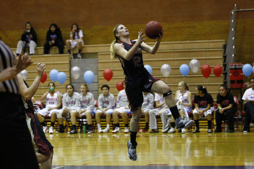 Courtesy of Christian Wininger Caitlyn Larsen has become a leader on Viewmont's basketball team.