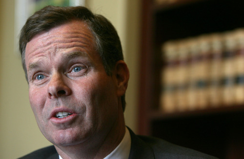Steve Griffin | The Salt Lake Tribune  John Swallow in the Attorney General's Offices at the Utah State Capitol Building in Salt Lake City last month before he was inaugurated as attorney general.