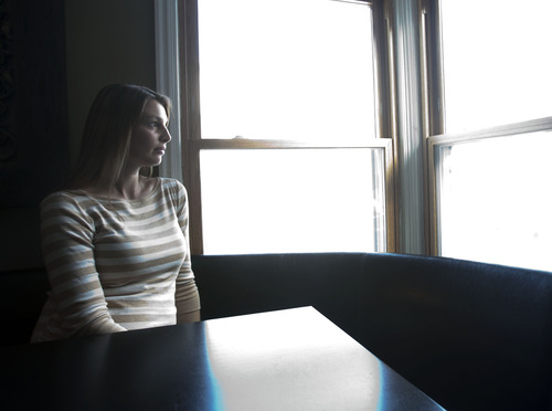 Steve Griffin | The Salt Lake Tribune Bridget James is 5 1/2 months pregnant and is worried about how pollution will affect her unborn son. She uses an air purifier in her Salt Lake City home and doesn't go outside on red air days.   .