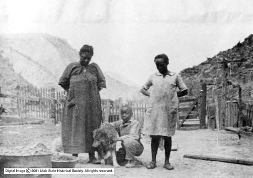 Photo courtesy of Utah State Historical Society African-American family of a miner killed in the Castle Gate disaster in 1924 that killed 172 men and left 417 dependents. Castle Gate was a coal mining community settled in 1888. The town survived for almost a century until 1974 when it was dismantled due to expanded mining operations.