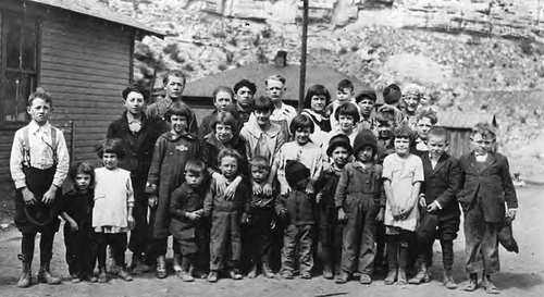 Photo courtesy of Utah State Historical Society This group of orphans was assembled in five minutes at the request of the disaster committee at Willow Creek, Castle Gate, Utah following the mine disaster of 1924 that killed 172 men and left 417 dependents.