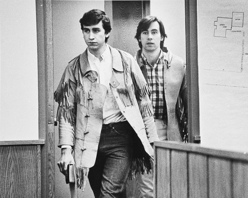 Tribune file photo by Lynn R. Johnson  Jonathan Swapp (left) and Addam Swapp (right) enter a Coalville courtroom.