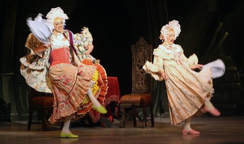"Steve Griffin | The Salt Lake Tribune Soloist Easton Smith and principal dancer Christopher Ruud  perform in Ballet West's ""Cinderella"" on Feb. 13, 2013."