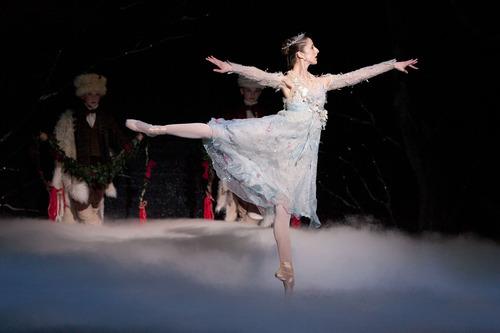 "Steve Griffin | The Salt Lake Tribune Demi-soloist Allison DeBona, as the Winter Fairy, performs in Ballet West's ""Cinderella"" at dress rehearsal on Feb. 13, 2013."