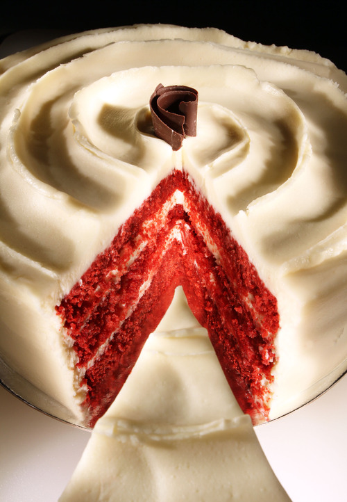 Francisco Kjolseth  |  The Salt Lake Tribune Tulie bakery in Salt Lake whips up red velvet cake, an old Southern flavor that has become popular once again. Besides cakes, bakeries and home chefs are making cupcakes, gelato and even fudge in the red velvet flavor.