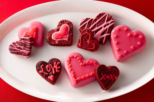 Red Velvet brownie conversation hearts. Courtesy McCormick