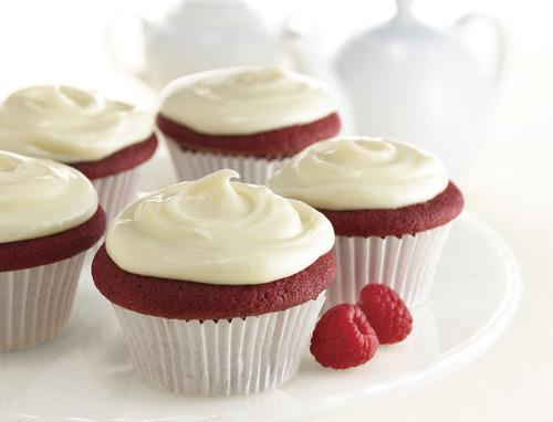 Red velvet cream-filled cupcakes. Courtesy McCormick
