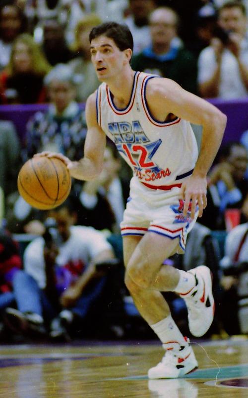 Steve Griffin  | The Salt Lake Tribune   John Stockton, in the 1993 All Star Game at the Delta Center in Salt Lake City, Saturday, February 21, 1993.