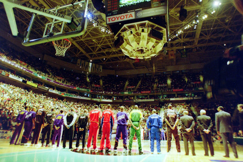 Steve Griffin  | The Salt Lake Tribune   Tthe 1993 All Star Game at the Delta Center in Salt Lake City, Saturday, February 21, 1993.