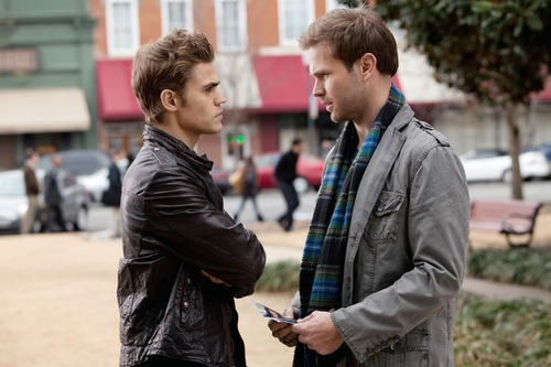 """Courtesy photo Paul Wesley as Stefan and Matt Davis as Alaric in """"The Vampire Diaries"""" on The CW."""