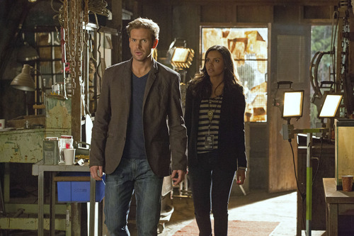 """Courtesy photo Matt Davis as Jeff and Jessica Lucas as Skye in """"Cult"""" on The CW."""