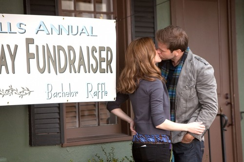 """Courtesy photo Sara Canning as Jenna and Matt Davis as Alaric in """"The Vampire Diaries"""" on The CW."""