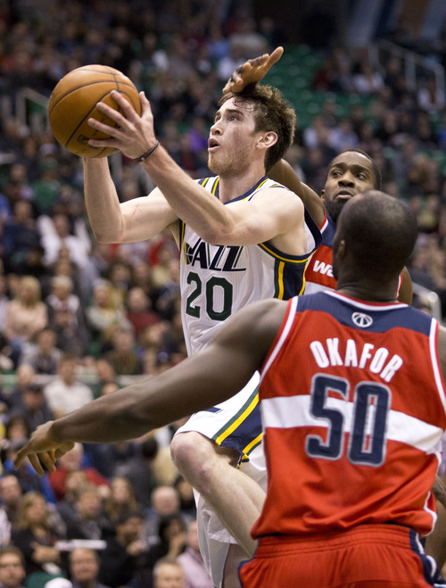 Lennie Mahler  |  The Salt Lake Tribune Jazz forward Gordon Hayward must continue improving like he was before his shoulder surgery during the second half of the Jazz's season.