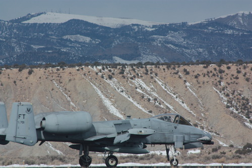 A-10 Thunderbolt makes emergency landing in Price. (Sun Advocate photo)