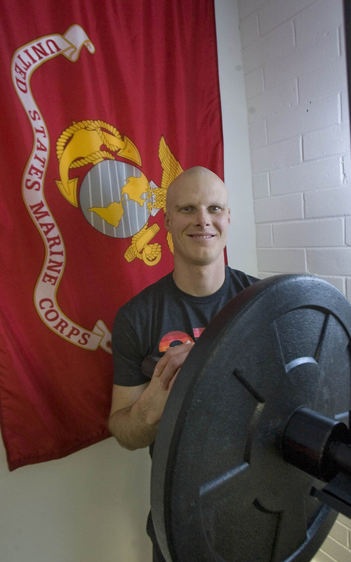 Paul Fraughton  |  The Salt Lake Tribune Josiah Schultz, who served two overseas deployments as a US Marine, has opened a fitness studio in East Millcreek.