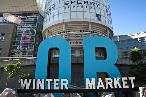 Chris Detrick  |  The Salt Lake Tribune Preparations are made for the 2012 Outdoor Retailer Winter Market.